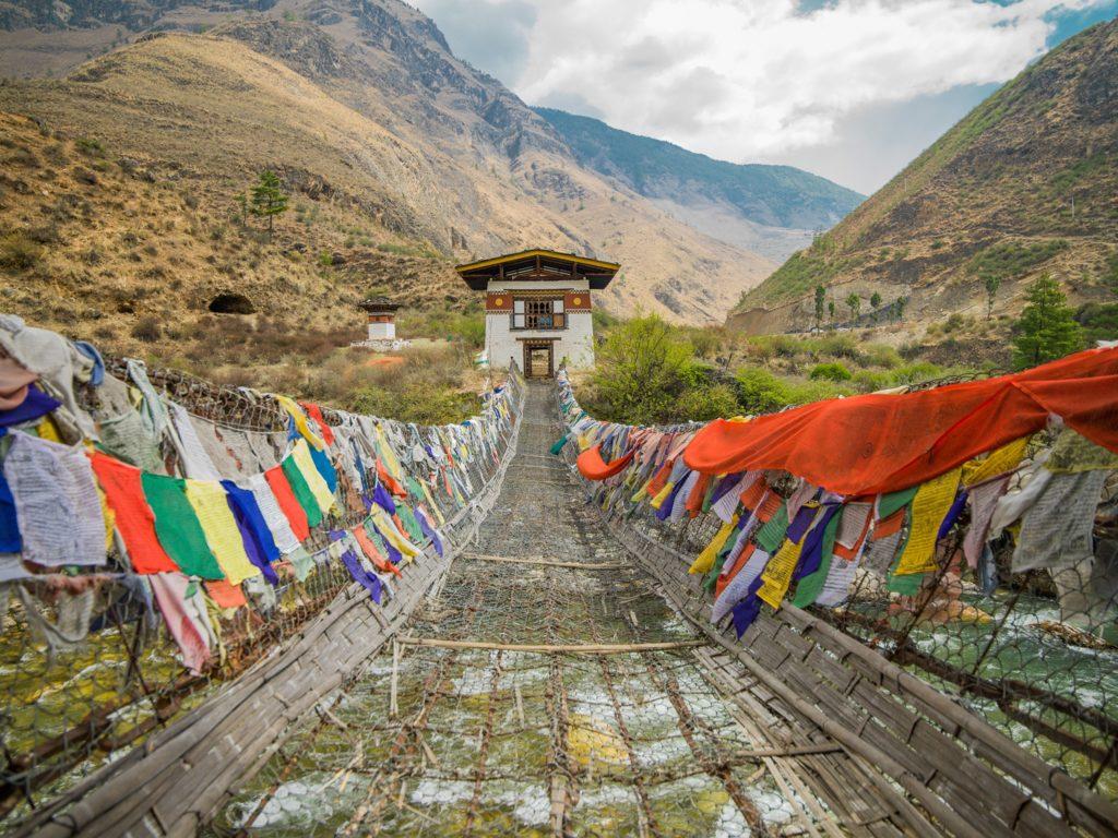 iron chain bridge bhutan
